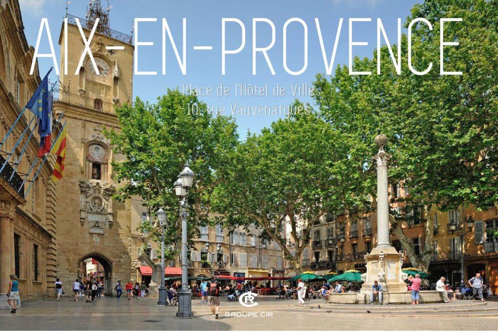 Aix-en-Provence - Place de l'Hôtel de ville Malraux